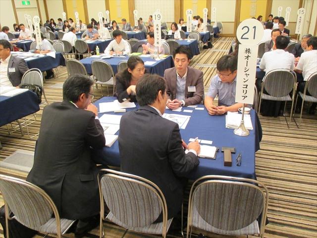 第24回日韓中小企業商談会の商談風景